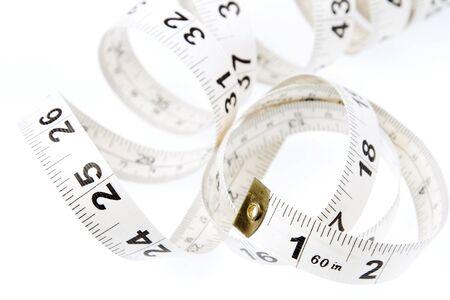 cintas metricas: Primer plano de la cinta métrica en espiral