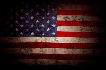 americana: Closeup of grunge American flag