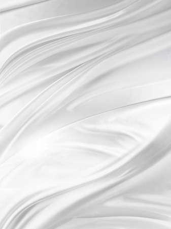 white silk: Closeup of rippled white silk fabric Stock Photo