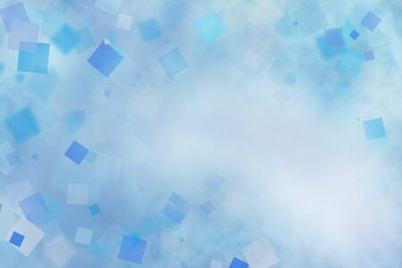 blur: Abstract blue and white squares background