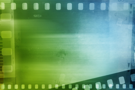 blue green background: Filmstrips blue and green background