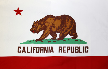 california state: Closeup of the California flag Stock Photo