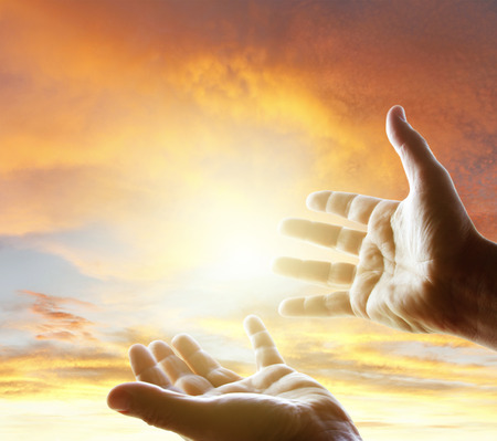 hands reaching: Hands reaching for the sky