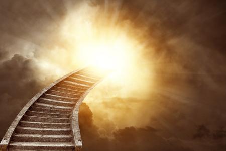 heavenly: Stairway leading up to heavenly sky