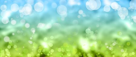 blue circles: Green and blue circles abstract background Stock Photo