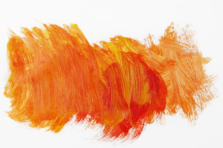bright paintings: Orange paint on plain background