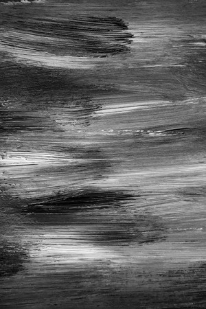 Closeup of black and white paint