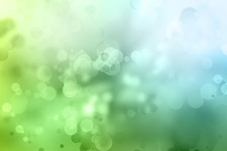ボケ円緑青い背景
