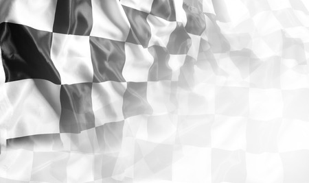Checkered black and white flag. Copy space Zdjęcie Seryjne - 63936451