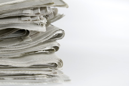 pile of newspapers: Closeup of pile of newspapers