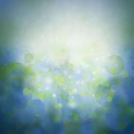 blue circles: Bokeh circles green blue background