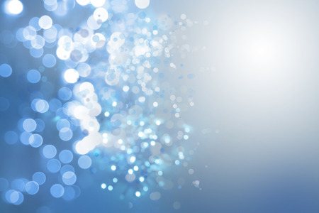 bokeh background: Abstract blue and white circles background Stock Photo