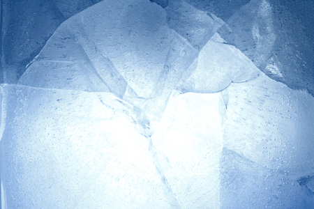texture backgrounds: Closeup of cracked blue ice