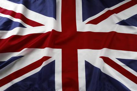 british english: Closeup of Union Jack flag