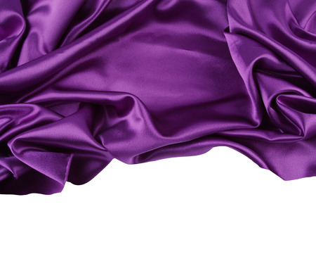 silks: Closeup of rippled purple silk fabric