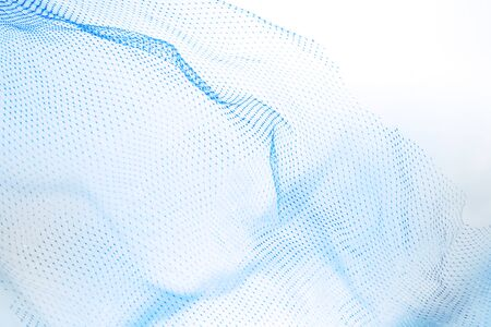 fish net: Closeup of abstract fishnet on white background. Blue tone