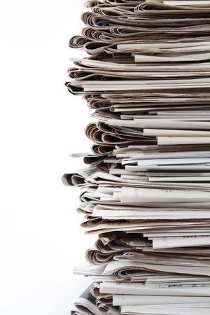 periodicos: Detalle de la pila de periódicos