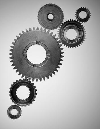 interlocked: Metal cog wheels bonding together
