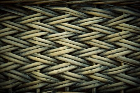 Textured background of willow wicker Stock Photo