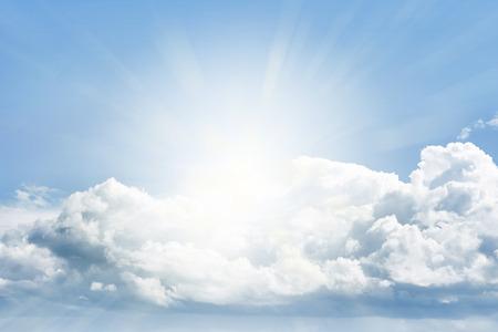 spiritual energy: Bright sun shining in clouds