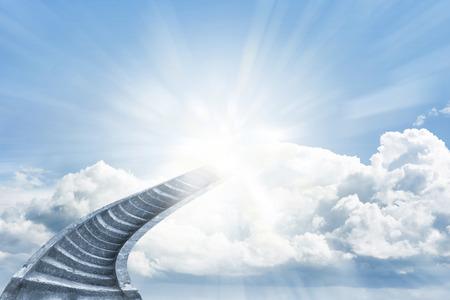 Trap aanloop naar hemelse hemel