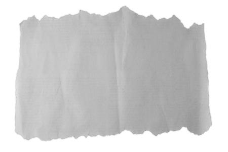 無地の背景に破れた紙の一部