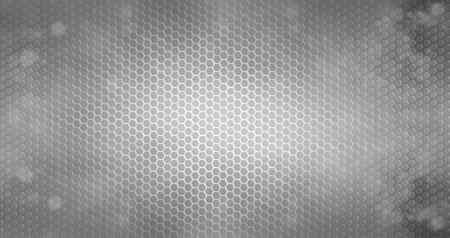 Closeup of holes in metal textured background Stock Photo