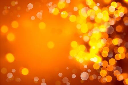 Orange and yellow circles abstract background