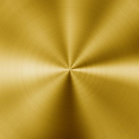brushed aluminium: Shiny circular golden metal background