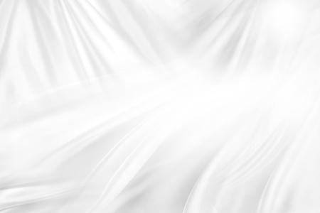 rippled 흰색 실크 직물의 근접 촬영