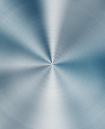 Shiny circular blue metal background