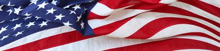 Close-up van golfde Amerikaanse vlag