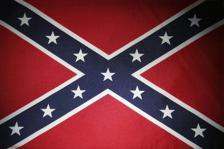 Closeup of the Confederate flag Banco de Imagens