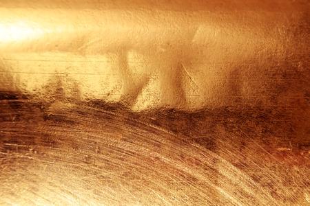 Primer plano de fondo de chapado de cobre de textura rayada