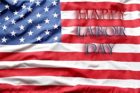Happy Labor Day USA flag Stock Photo