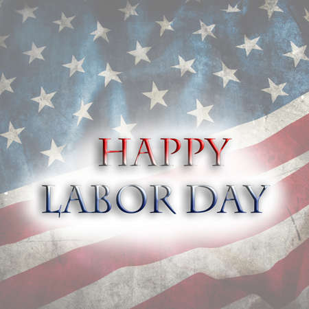 Happy Labor day USA flag