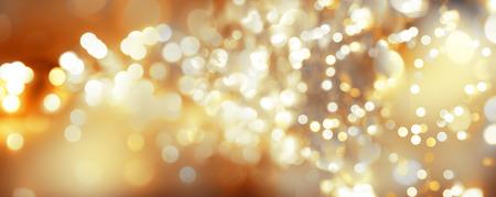 Golden Christmas abstract blurs background Banco de Imagens