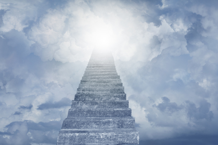Stairway leading up to sky. Stairway to heaven Stockfoto