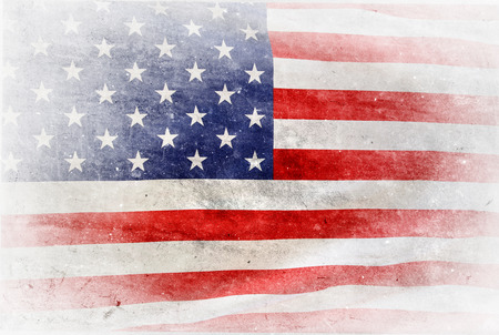 Grungy American flag on white background Reklamní fotografie