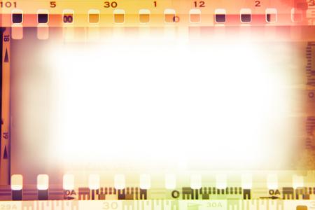 Film negative frames background. Copy space