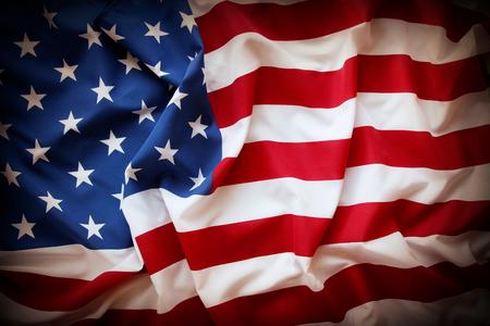 Closeup of rippled American flag Фото со стока