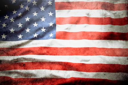 Closeup of grunge American flag Reklamní fotografie