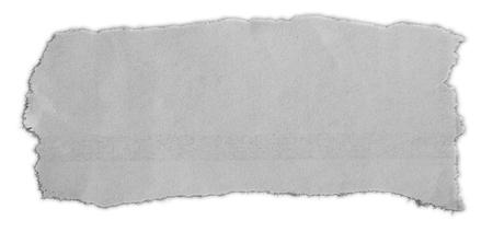 Trozo de papel rasgado aislado sobre fondo liso