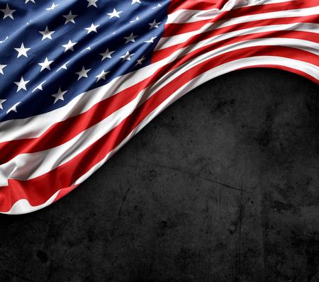 Close-up of American flag on dark grunge background Reklamní fotografie
