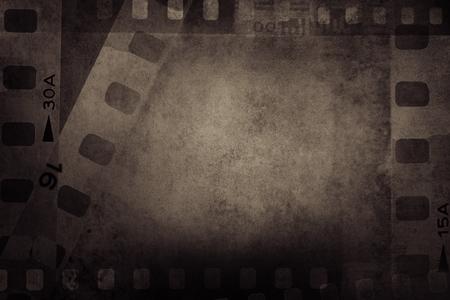 Film strips negative frames background