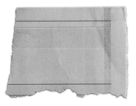 Pezzo di carta strappata isolato su sfondo chiaro