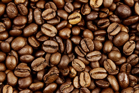 Closeup of roasted coffee beans Imagens