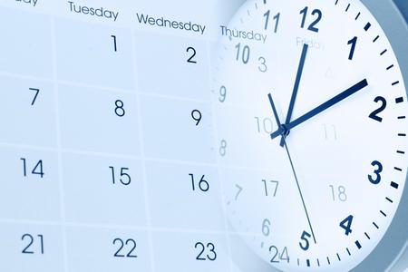 Wijzerplaat en kalender composiet