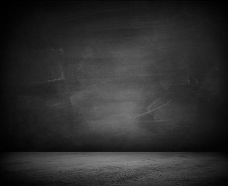 Lege vloer en blinde muur