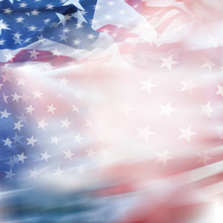 Abstract blurred USA America flag